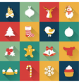 Set of Christmas and New Year objects vector image vector image