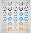 set of circle diagrams for infographics vector image