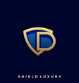 shield letter template vector image vector image