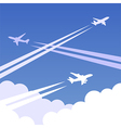 Sky planes background 01 vector image vector image