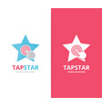 star and click logo combination leader and vector image vector image