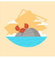 Summer vacation sea landscape icon beautiful