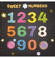 Sweet Handdrawn Numbers vector image