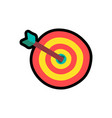target with arrow cartoon color vector image