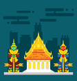 Thailand temple with two giants guarding vector image vector image