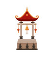 traditional chinese building cultural asian vector image vector image