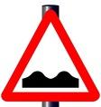 Uneven RoadTraffic Sign vector image vector image