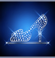 women shoe decorated with jewels vector image