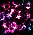 Shiny cosmic flowers background vector image