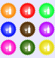 Wine Icon sign Big set of colorful diverse vector image