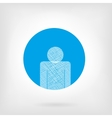 Human icon in flat and doodle style vector image
