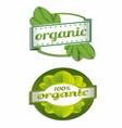 Hundred Percent Organic Label vector image