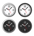 mechanical circle clock dial set vector image