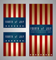 4th of July Card and Template vector image