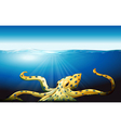 A big octopus under the sea vector image vector image