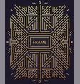 abstract geometric art deco frame border