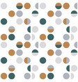abstract geometric wallpaper with semi circles vector image