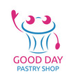 abstract pastry character vector image
