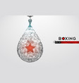 abstract silhouette a boxing punching bag vector image