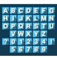 Alphabet font flat design vector image vector image