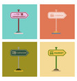 assembly flat icons sign of market car wash cinema vector image vector image