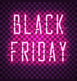 black friday purple neon sign vector image vector image