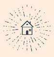 black house icon isolated on beige background vector image vector image