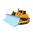 bulldozer dozer big tractor construction vehicle vector image