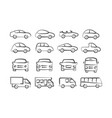 car doodle icons vector image vector image