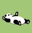 cartoon panda bear flat style vector image