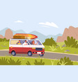 cartoon tourist mother father and son kid vector image