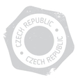 Czech Republic stamp vector image