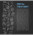 design of article about dentistry vector image vector image
