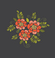embroidery floral design vector image vector image