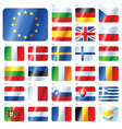 european union flags vector image vector image