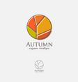 fall logo autumn emblem organic shop vector image vector image