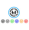 family diagram rounded icon vector image