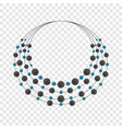 female necklace icon cartoon style vector image