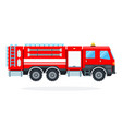 fire-engine vehicle vector image vector image