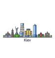 flat line kiev banner vector image vector image