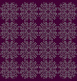 floral leaf pattern background with purpple color vector image vector image