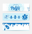 fresh milky banner design vector image