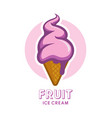 fruit berry ice cream icon vector image
