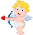 Funny little cupid aiming at someone vector image