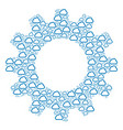 gear wheel collage of cloud icons vector image