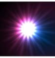 Glowing star beams abstract background vector image vector image