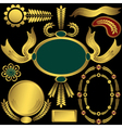 golden elements and frames vector image vector image