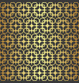 golden geometric seamless pattern vector image vector image