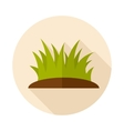 Grass flat icon with long shadow vector image