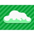 Green cloud with shadow vector image vector image